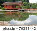 奈良市に広がる世界遺産の平城宮跡に復元された皇族らが儀式や宴会を行なったとされる東院庭園 79238442