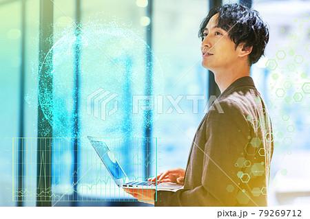 男性 未来のビジネスイメージ 撮影協力「+SHIFT NOGIZAKA」 79269712