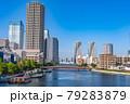 東京の都市風景 月島 朝潮大橋から勝どき方面の風景 79283879