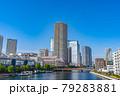 東京の都市風景 月島 朝潮大橋から勝どき方面の風景 79283881