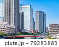 東京の都市風景 月島 朝潮大橋から勝どき方面の風景 79283883