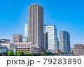 東京の都市風景 月島 朝潮大橋から勝どき方面の風景 79283890