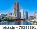 東京の都市風景 月島 朝潮大橋から勝どき方面の風景 79283891