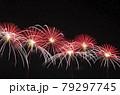 赤川花火大会の打ち上げ花火(型物紅蓮華六輪) 79297745