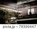 四万温泉のツタの這う旅館と湯煙 79300447