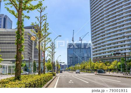 横浜みなとみらいの都市風景 いちょう通り 79301931