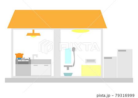 家庭用燃料電池コージェネレーションシステムのある家 79316999