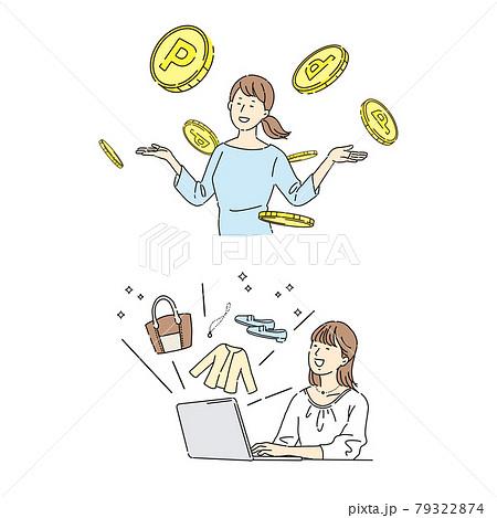 ネットビジネス、稼ぐ女性、副業、貯金 79322874