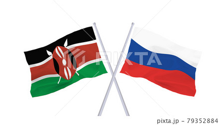 ロシアとケニア共和国の国旗 79352884