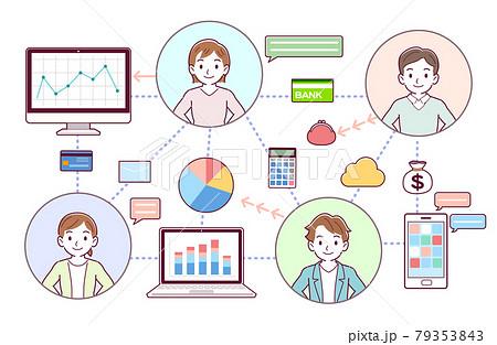 金融テクノロジーと人々 79353843