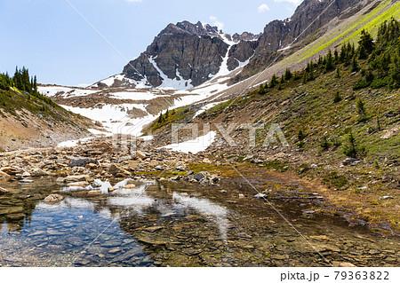 ボウサミットルックアウトからのハイキングコース上から見る美しい風景 79363822