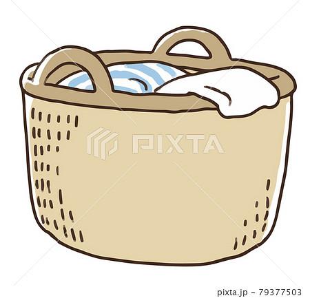 洗濯カゴと洗濯物 79377503