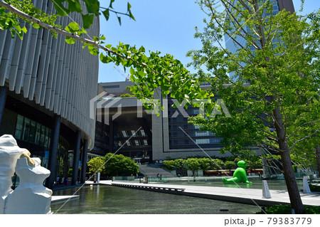 グランフロント大阪うめきた広場大きな緑のくまのオブジェ 79383779