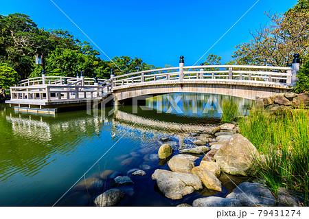 大村公園 桜田の堀 桜田橋 【長崎県大村市】 79431274