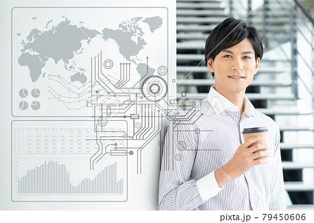 若いビジネスマンのデジタルイメージ 79450606