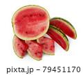 Watermelon on white 79451170