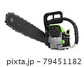 Chainsaw on white 79451182