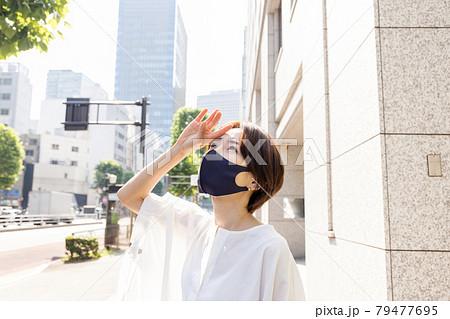 夏のマスク 79477695