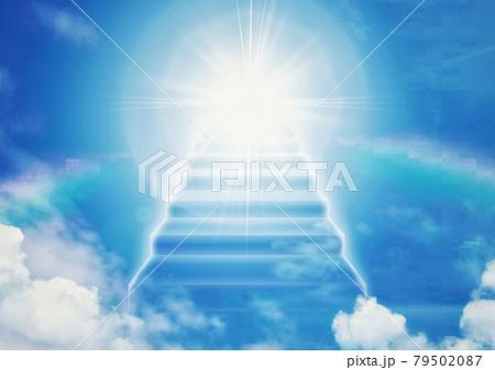 天国へつながる抽象的な階段 79502087