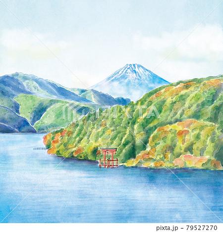 箱根芦ノ湖と富士山 79527270