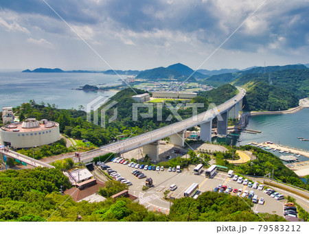 エスカヒル・鳴門から、徳島県鳴門の景色 79583212