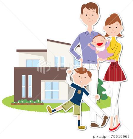マイホームと家族 79619965