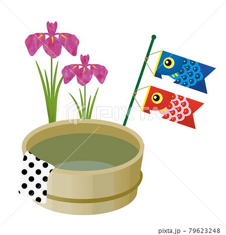 菖蒲湯と鯉のぼり 79623248