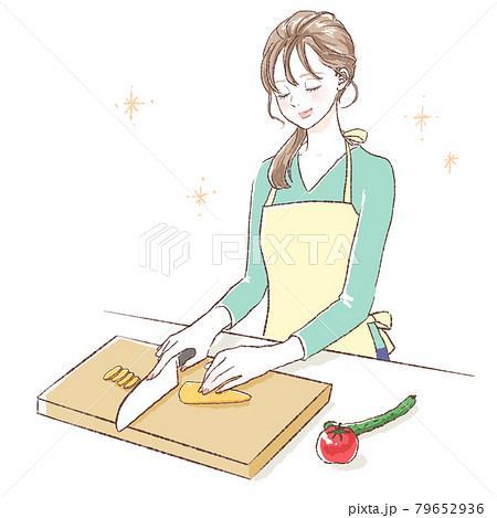 料理をする女性 79652936