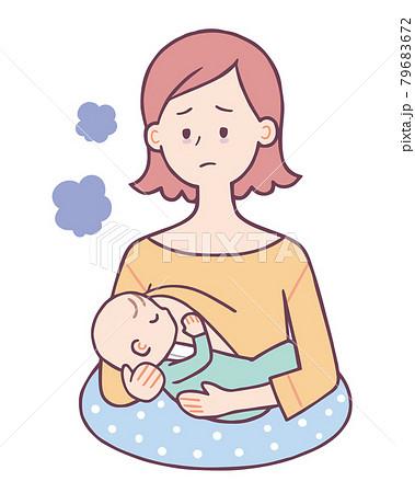 母乳をあげる女性 79683672
