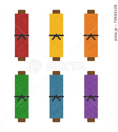 様々な色の巻物 79689106