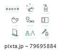 新型コロナウイルス感染症 対策・予防イメージイラスト素材 79695884
