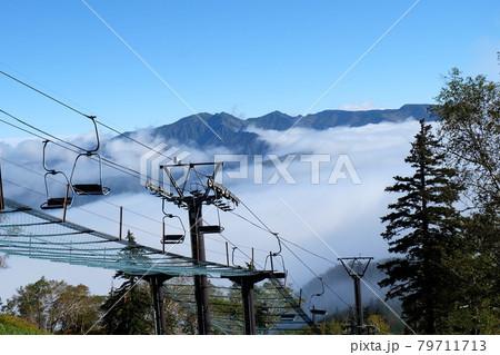 北海道大雪山系黒岳ロープウエイからの雲海 79711713