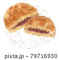 和菓子の水彩イラスト:どら焼き 79716930