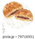 和菓子の水彩イラスト:どら焼き 79716931