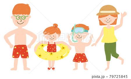 海水浴 家族 79725845