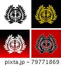伊達政宗の仙台笹の家紋 79771869