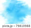 雲で囲まれた空 コピースペース 水彩画  79810988