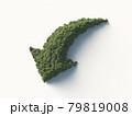 樹木で構成された下降のシンボルマーク。3Dレンダリング。 79819008