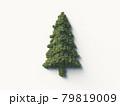 樹木で構成された樹木のシンボルマーク。3Dレンダリング。 79819009