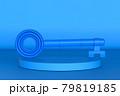 blue key on blue background 79819185