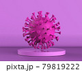 pink bacteria or virus on pink background 79819222