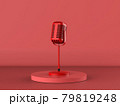 red microphone on stage with red background 79819248