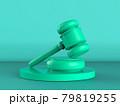 green gavel judge on green background 79819255