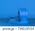 blue mri scan machine on blue background 79819534