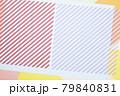 斜めのライン入り紙素材 ポップでカラフル背景 79840831