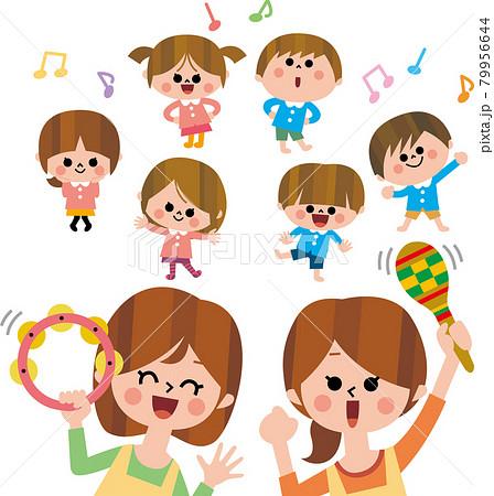 園児のダンス 79956644