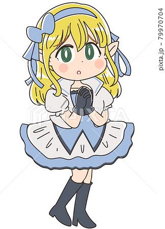 ファンタジー系アニメキャラのイラスト ヒロイン 79970704