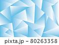 涼し気なポリゴン背景画像(背景素材、壁紙) 80263358