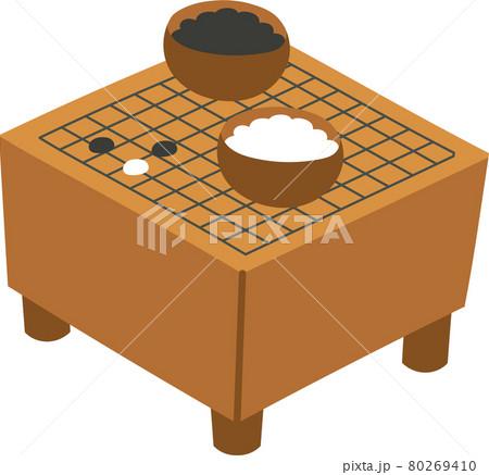 囲碁盤と碁石 80269410