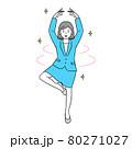 喜んでバレエを踊る ビジネスウーマン 80271027